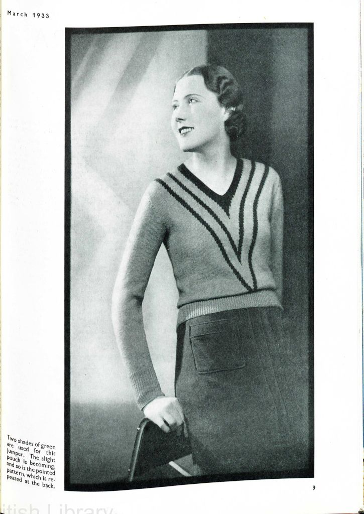 free deco knitting pattern ladies jumper | 1930\'s knitting and ...