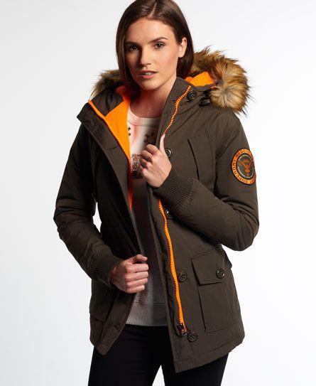 Superdry Everest Slim Polar Coat Barbour Damen, Fur Trim Coat, Green Coat,  Moncler 5ad212466a
