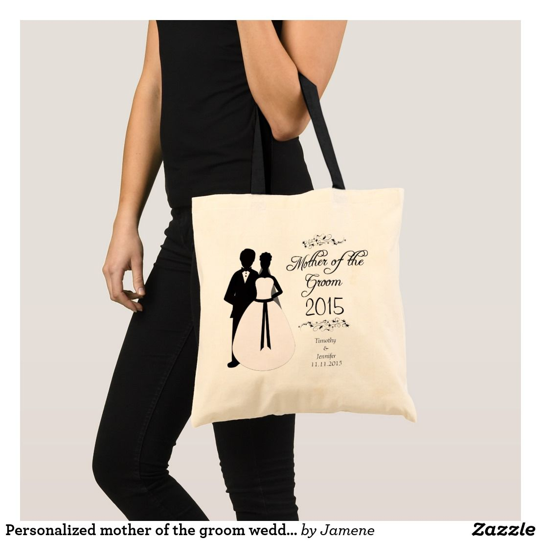 Personalized mother of the groom wedding favor bag | Wedding:Tote ...