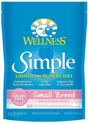 Wellness Simple Natural Limited Small Breed Salmon Potato Pet Dog Food 4lbs 8z Dog Food Recipes Dry Dog Food Limited Ingredient Dog Food