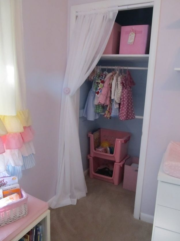 Remove Closet Doors 25 Hacks To Make Room For A Baby In Your Tiny