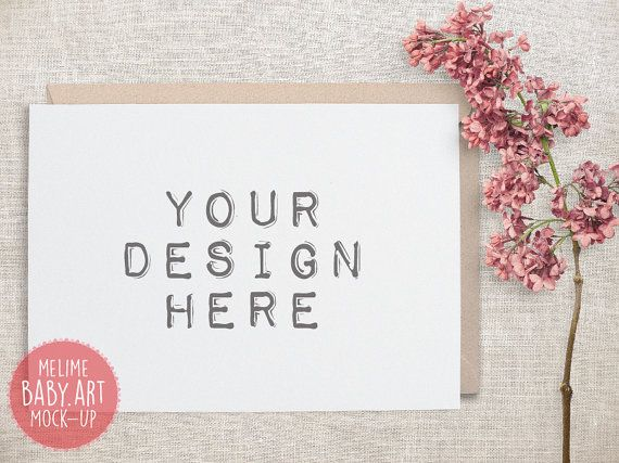 Cards Mockups Styled Photography Mock Up 5x7 by MockUpStudio