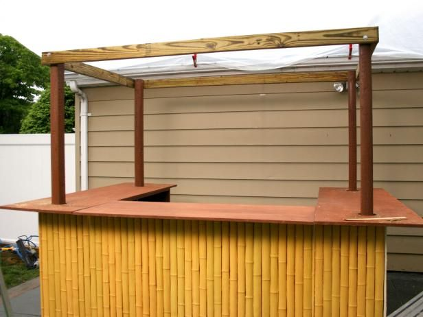 Beautiful How to Make A Tiki Bar Roof