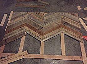 Gambill Custom Woodwork: Chevron Pallet Headboard Build #palletheadboards