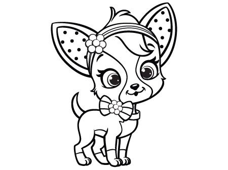 Activities archive strawberry shortcake chiffon for Chihuahua coloring pages