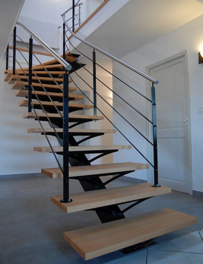escalier limon 1 4 tournant escalier pinterest. Black Bedroom Furniture Sets. Home Design Ideas
