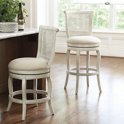 Seating Julien Armless Bar Stool Ballard Designs White Cane Barstool