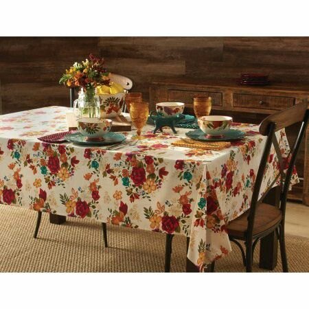 Pioneer Woman Timeless Floral Tablecloth Pioneer Woman