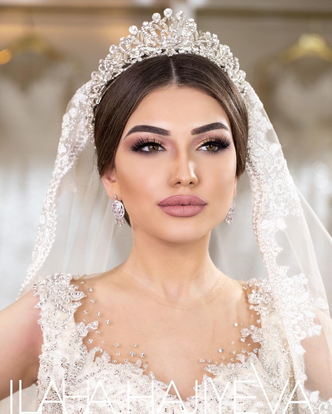maquiagem de casamento in 2020 Wedding tiara veil