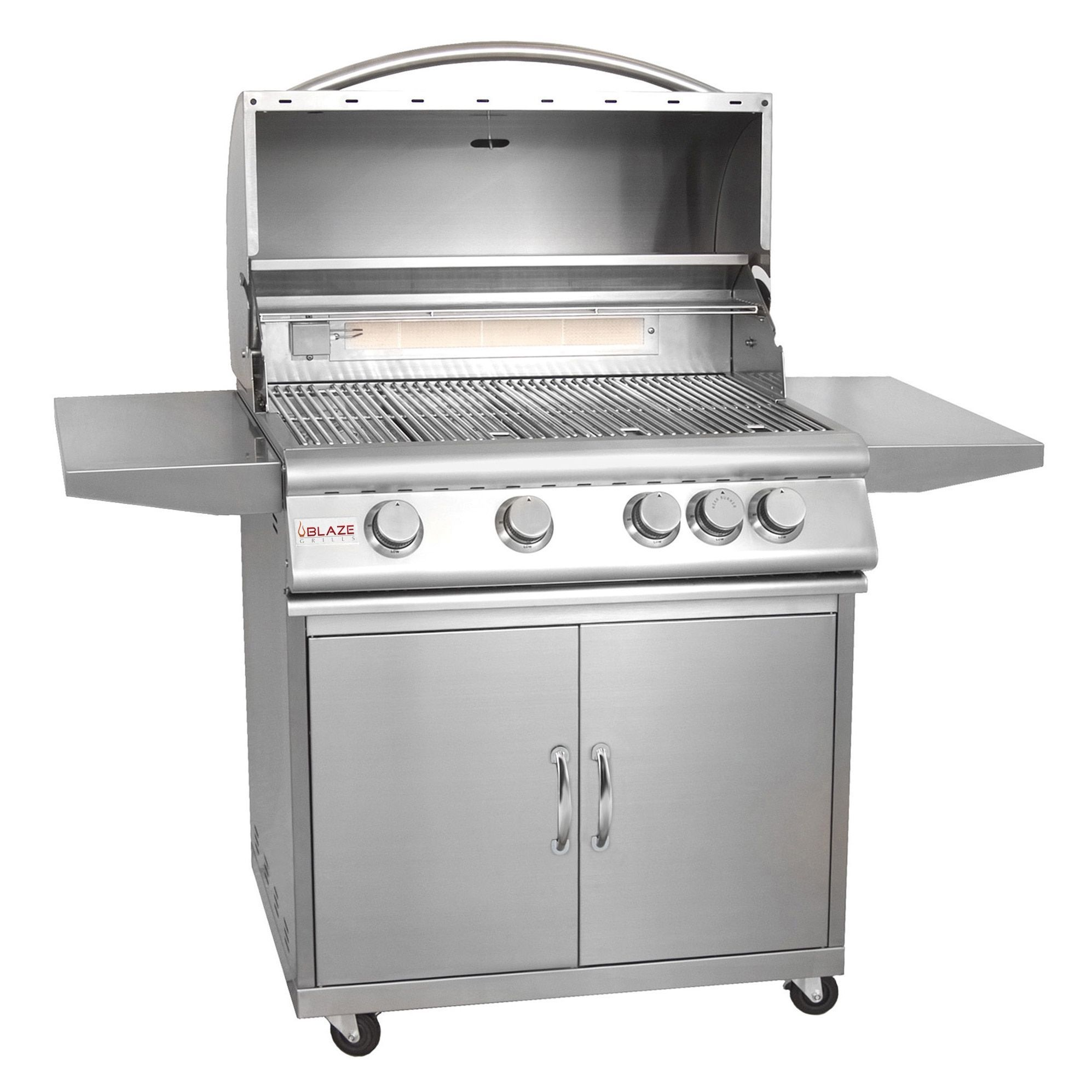 Blaze Stainless Steel 32 inch 4 burner Gas Grill with Cart