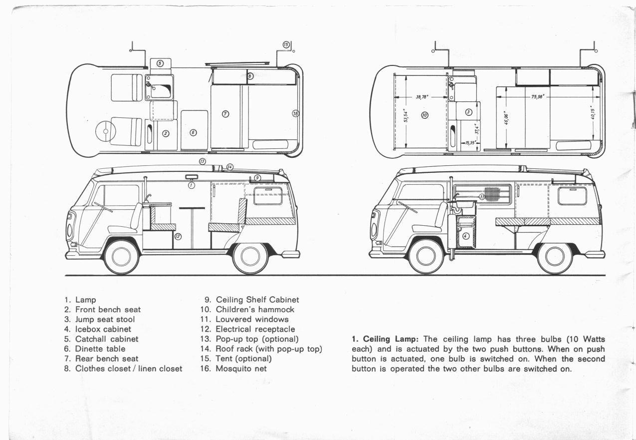 Red Volkswagen Camper Van