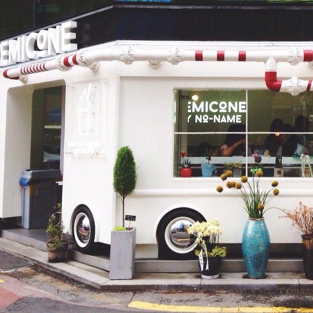 Cute little ice cream shop in Garo #레미콘/#remicone🍦