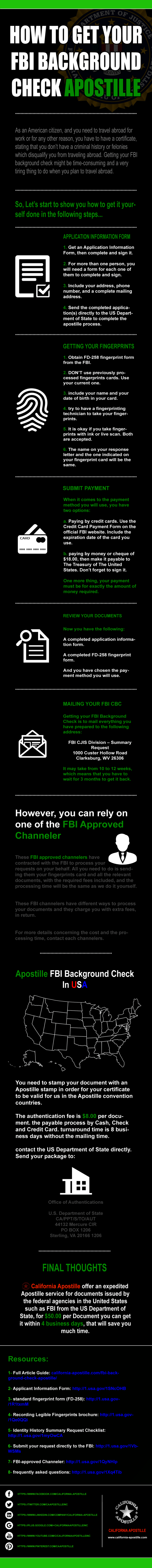To Get Your Fbi Background Check There Are Some Steps Come First Before Getting The Apostille Stamp Follow Background Check Free Background Check How To Get