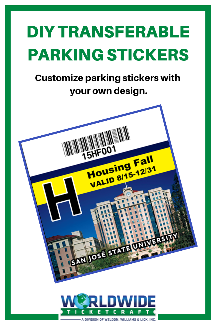 Customize parking stickers with your own art in full color want a transferable decal that