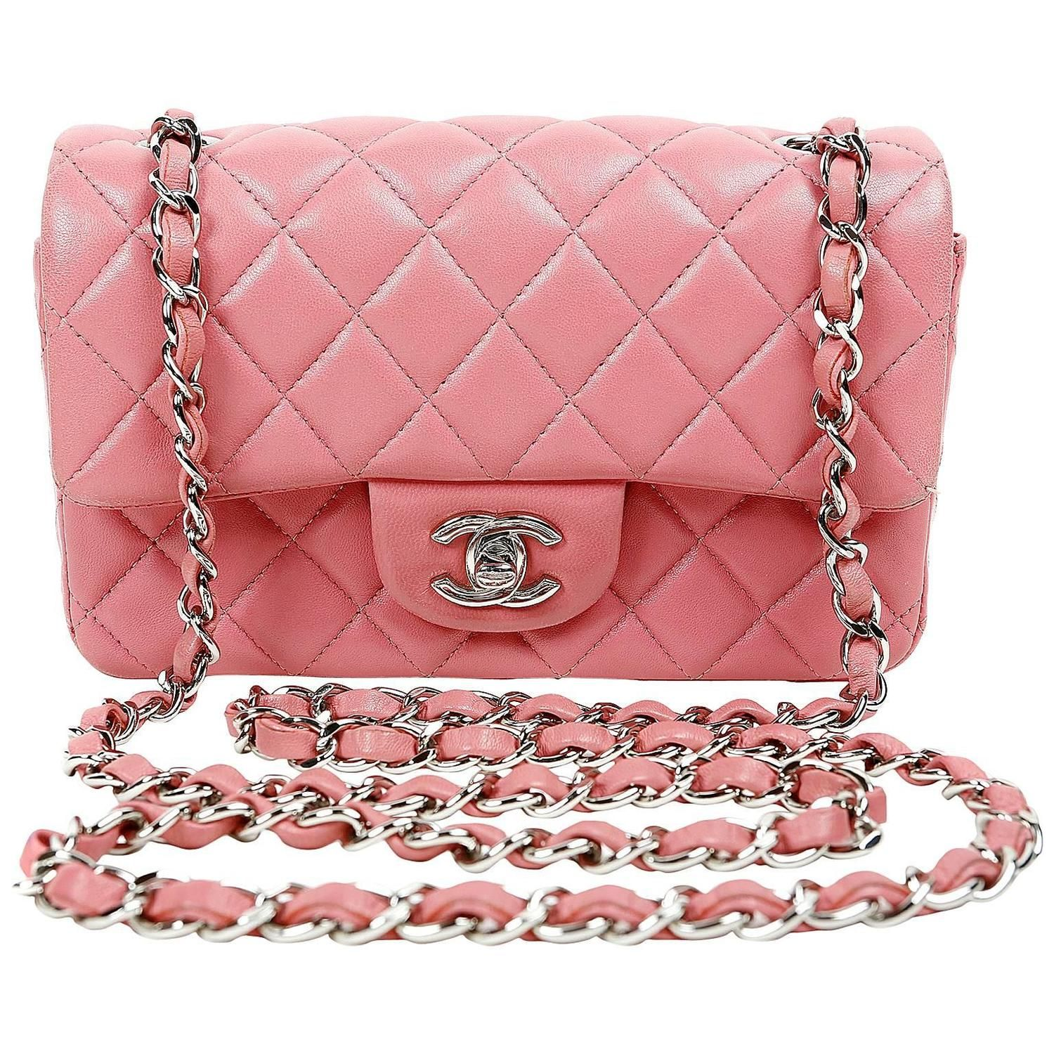 22bc5afe5 View this item and discover similar shoulder bags for sale at - Chanel  Raspberry Lambskin Small Classic Flap- PRISTINE A lovely shade of luscious  berry ...