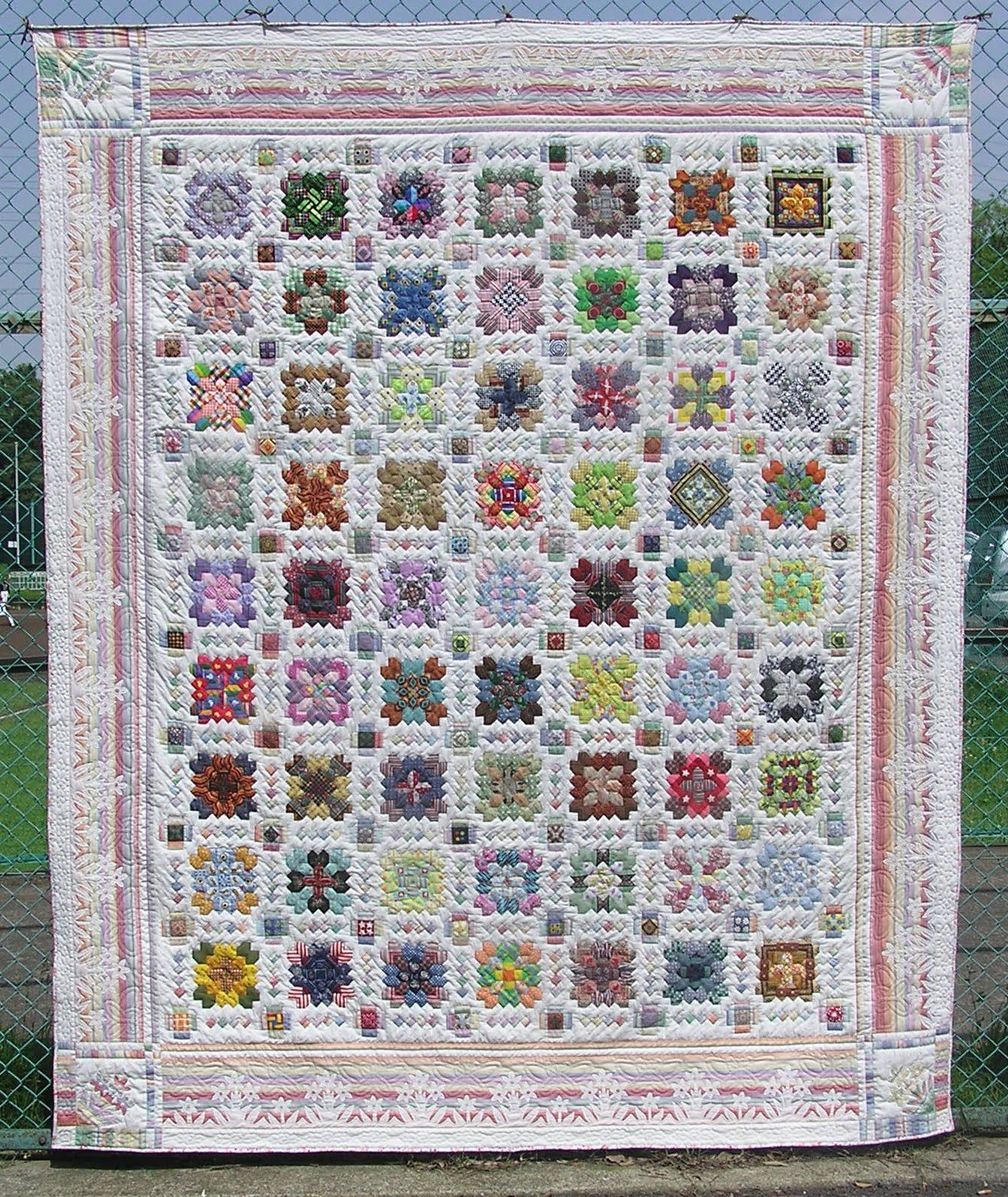 My Quilt Diary Double Crossed meets Bloggers Quilt Festival