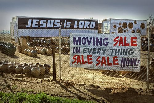 Mattie works at Jesus Is Lord Used Tires.  Her husband named it and she never got around to changing it after he died.