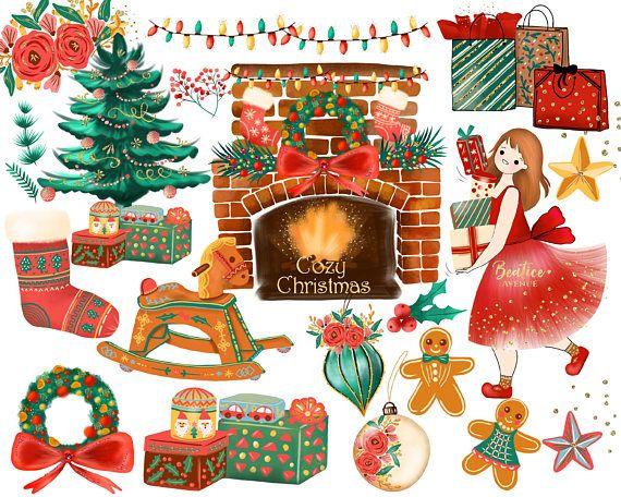watercolor christmas clipart christmas fashion girl clipart rh pinterest com christmas scenes clipart images religious christmas scenes clipart