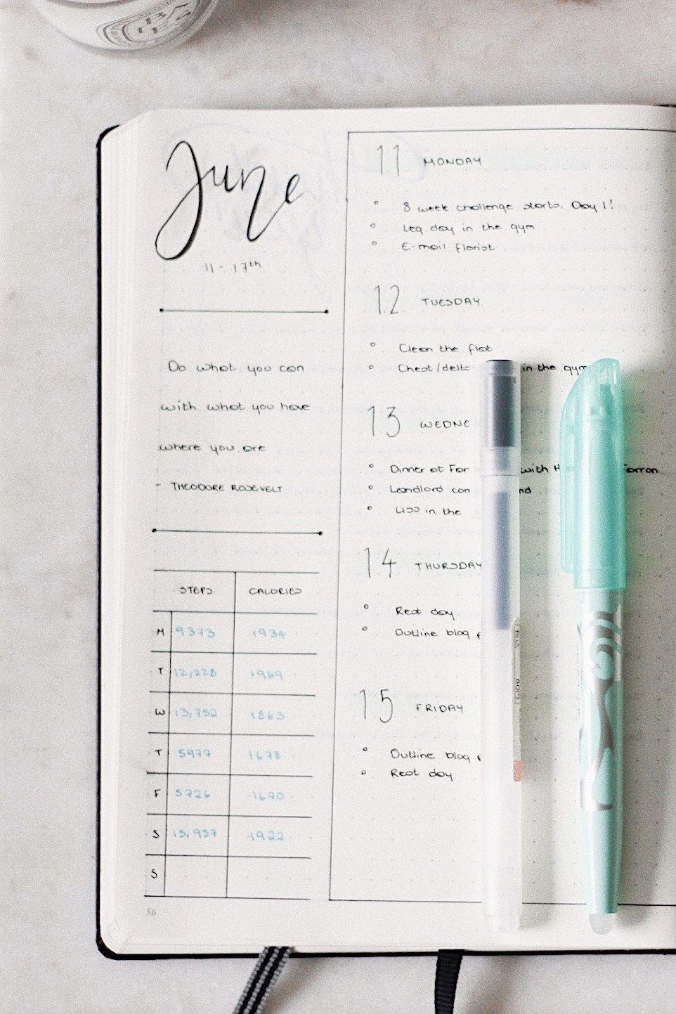 #everything #organised #organise #planning #between #fitness #journal #wedding #bullet #health #here...