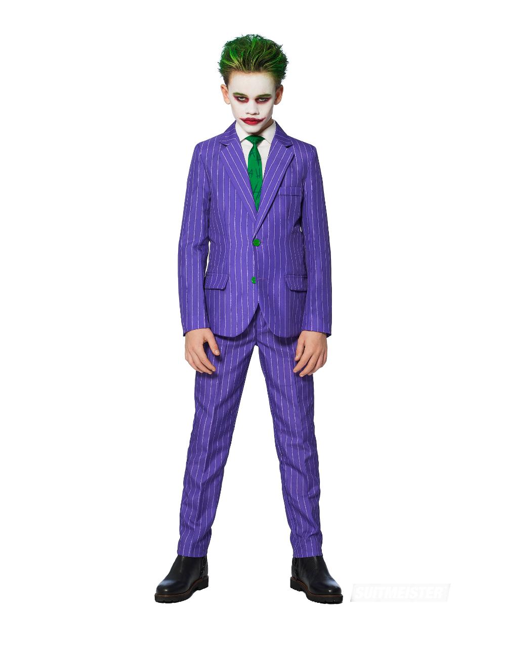 Mr. Joker™ Suitmeister™ kostuum voor kinderen: Dit Mr. Joker