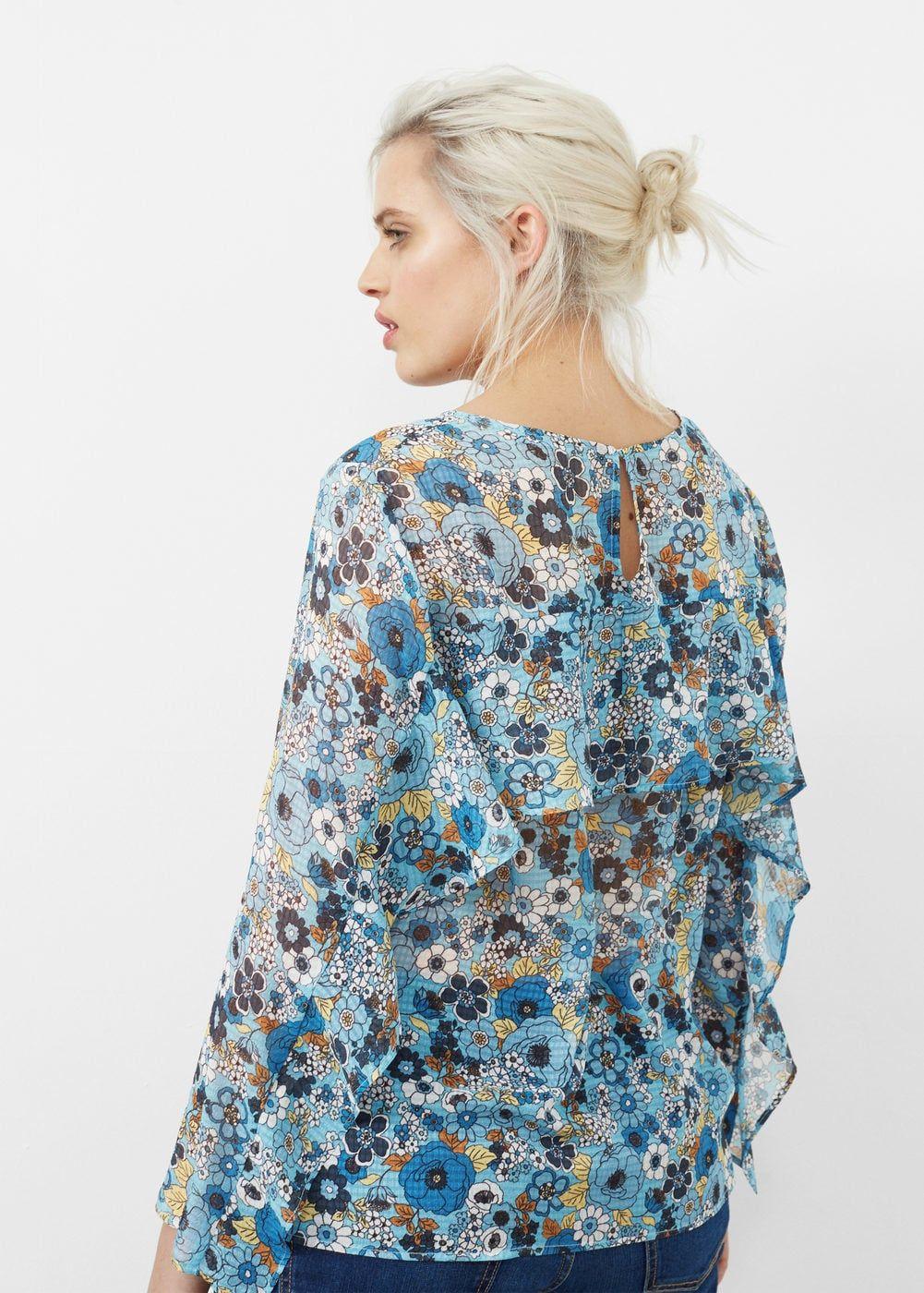 b7ac5c3256354c Ruffles printed blouse - Plus sizes