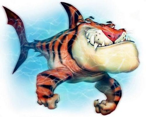 TIGER_SHARK cartoon Shark, Tigers and Cartoon - copy coloring page of a tiger shark