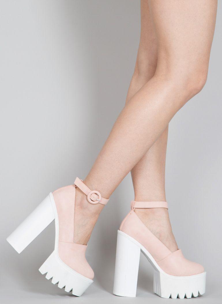 d10e541a5ee24 Sandały Fancy Tasha Pink Platform Sandals   Sandały na obcasie   Sandały    Obuwie damskie -