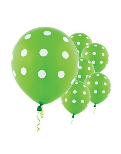 Lime Green Polka Dot Balloons From Party City