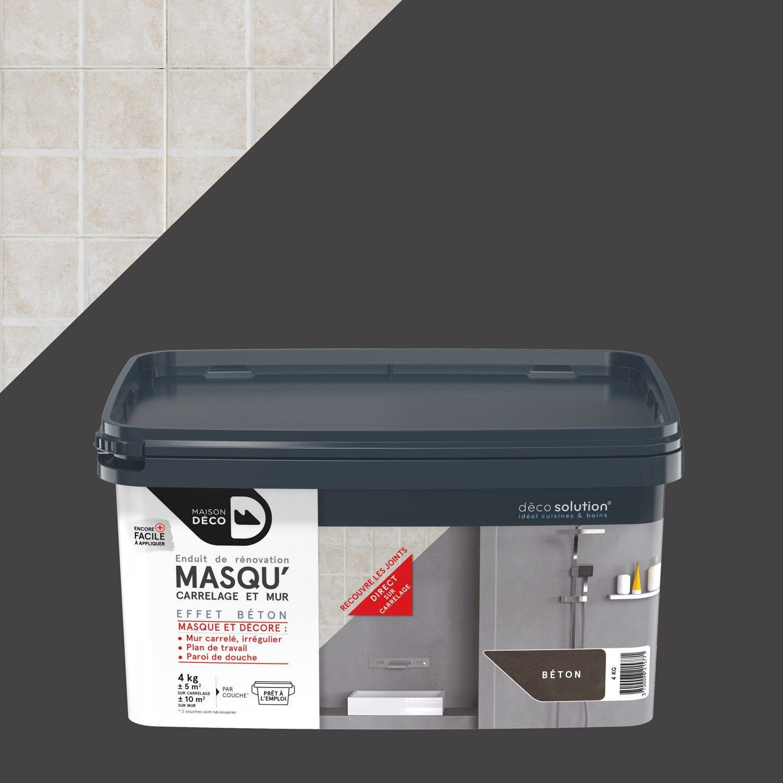Enduit Masqu Carrelage Et Mur Maison Deco Beton 4 Kg Enduit