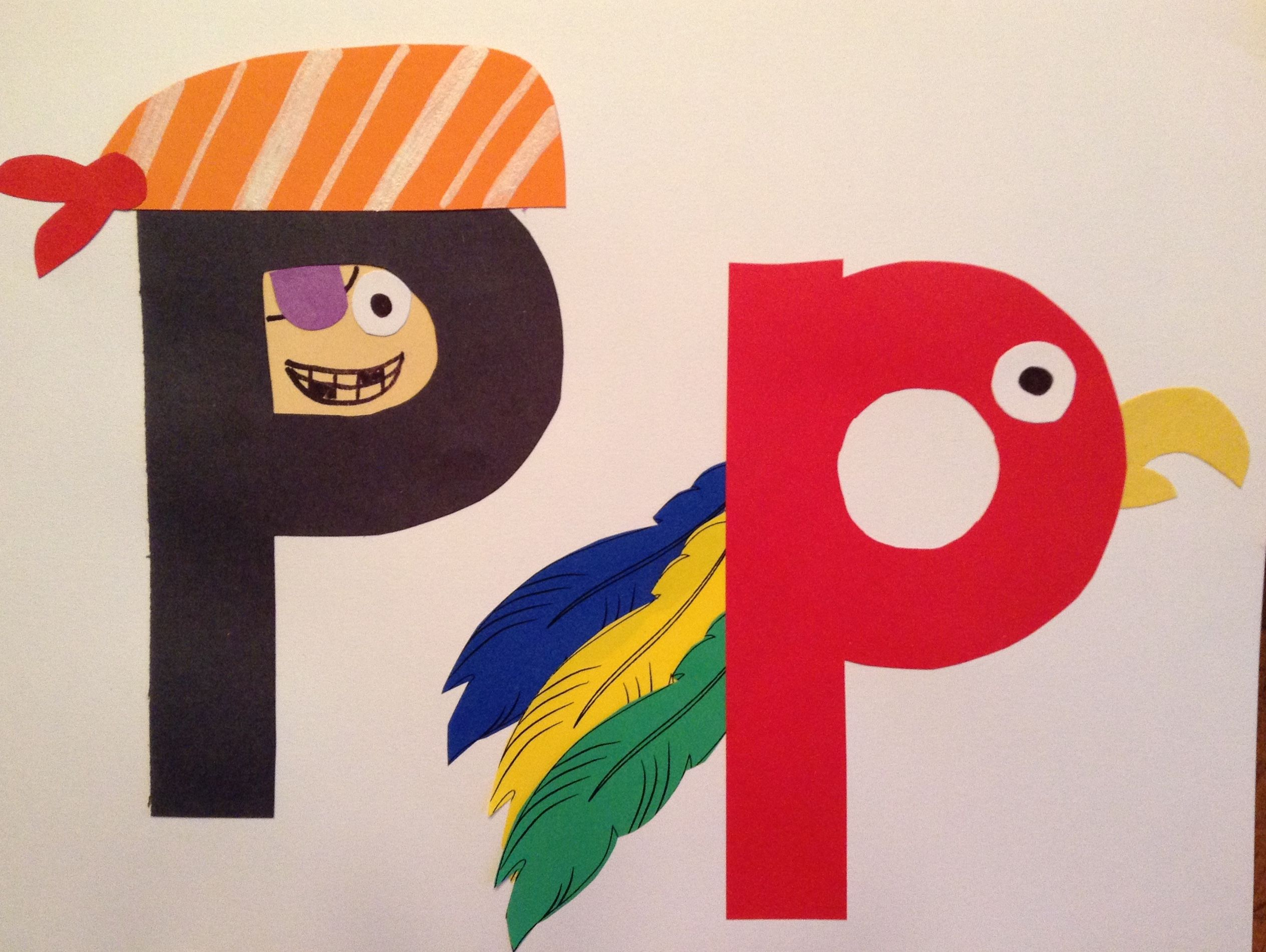 P Is For Pirate Amp Parrot