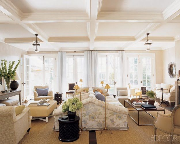 Back To Back Sofas With Nice Color Scheme Mix Of Warms And Cools