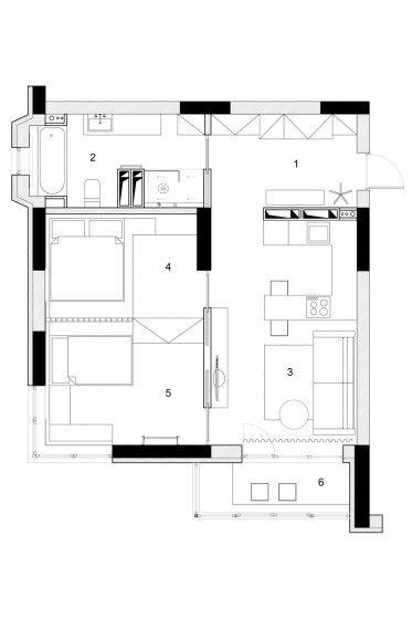 Departamentos peque os parejas con ni os apartamentos for Distribucion apartamentos pequenos