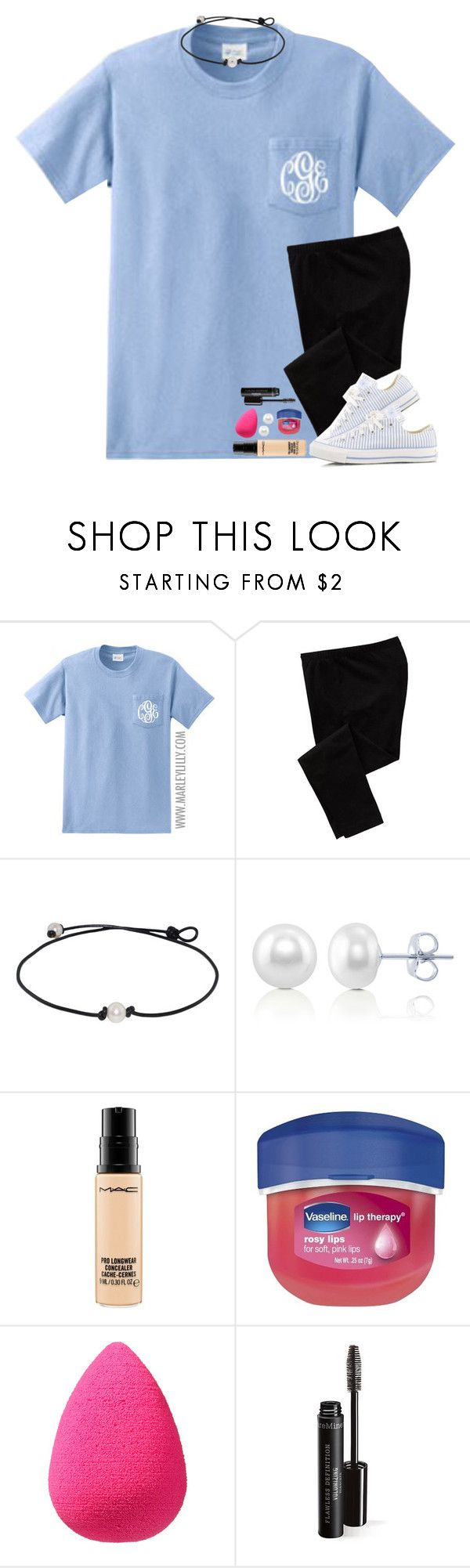 """""""I really don't like school."""" by bloom17 ❤ liked on Polyvore featuring Old Navy, Converse, BERRICLE, MAC Cosmetics, Therapy and beautyblender"""