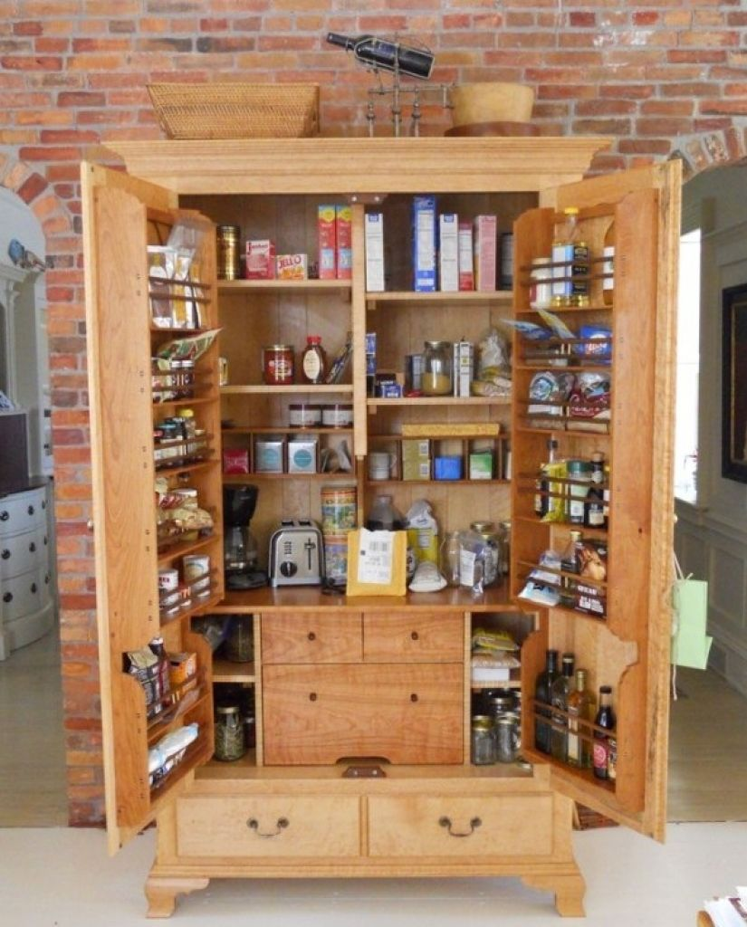 Pantry Storage Cabinets For Kitchen with Free Standing Kitchen Pantry Storage Cabinet Free Standing with Wooden Pantry Cabinets with Lowes Kitchen Pantry ... & Pantry Storage Cabinets For Kitchen with Free Standing Kitchen ...