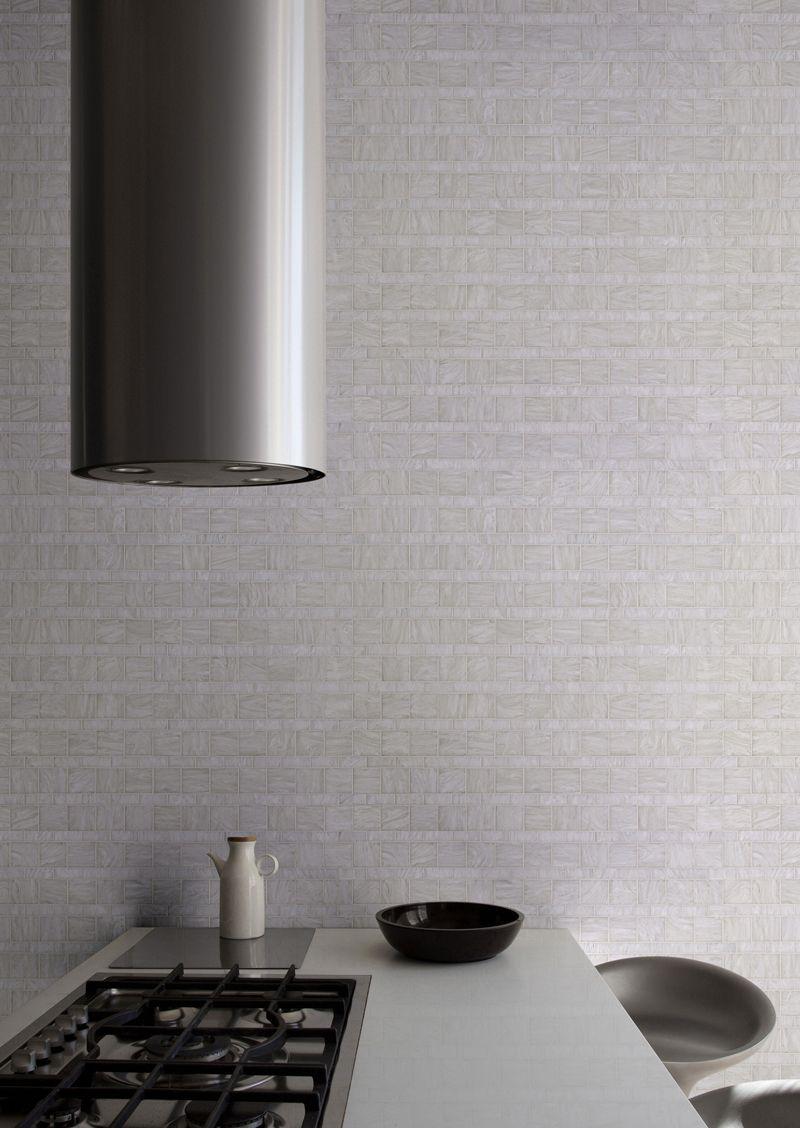 Bisazza Mosaics- White Line kitchen