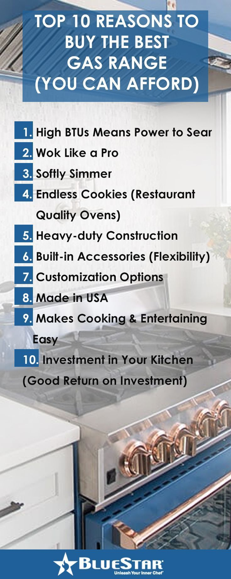 Top 10 Reasons To Buy The Best Gas Range You Can Afford Gas Range Kitchen Design Color Gas Range Top