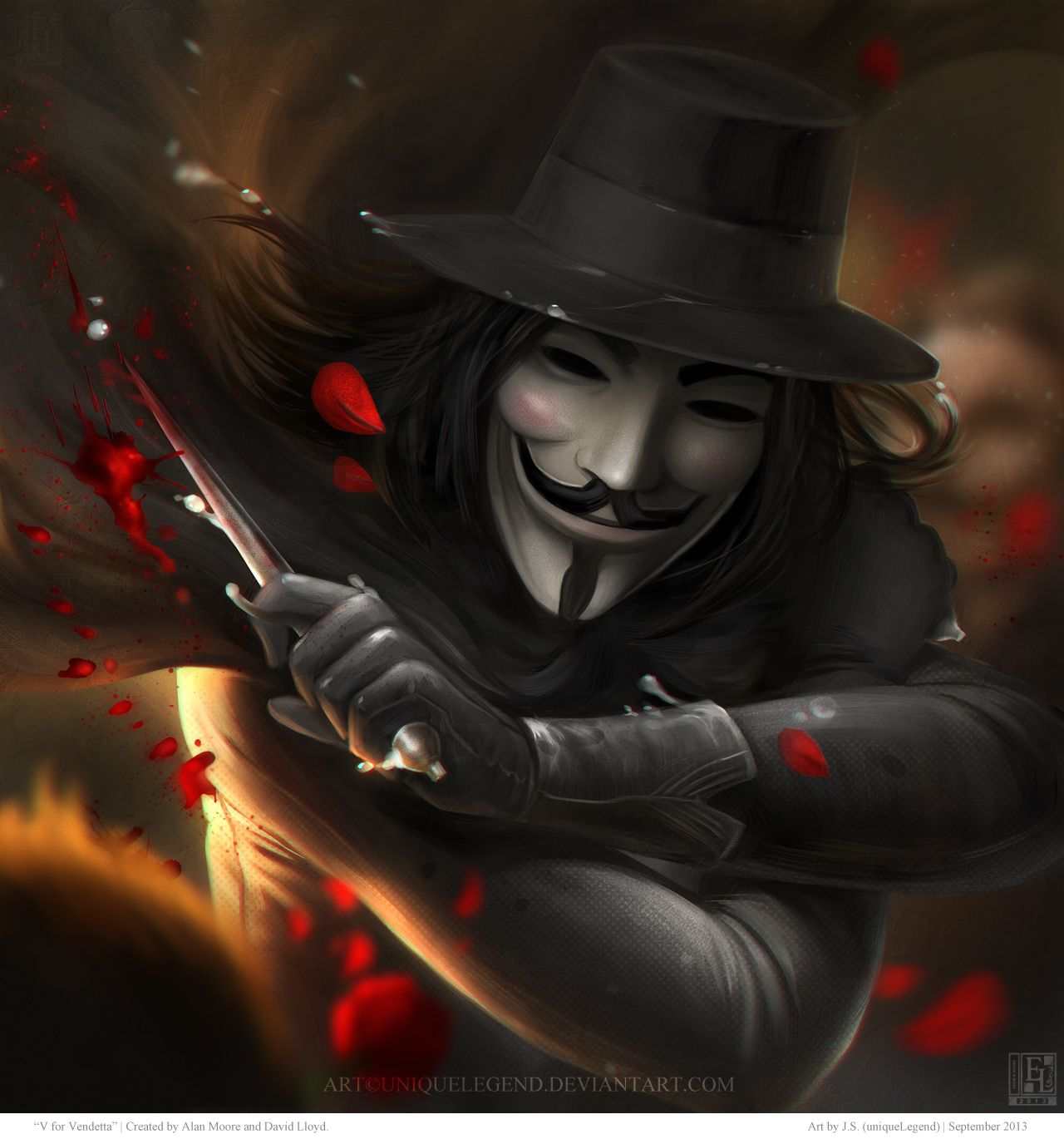 V For Vendetta By Uniquelegend Deviantart Com On Deviantart V