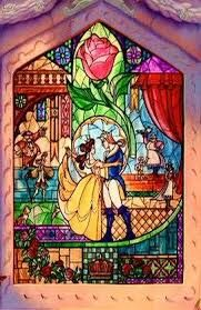 beauty & the beast stained glass - Google Search