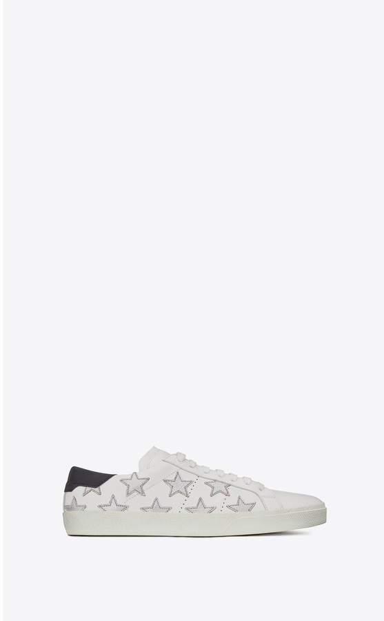 9e830bc2e5a6a Saint Laurent Court Classic Sl 06 Metallic California Sneakers In Leather