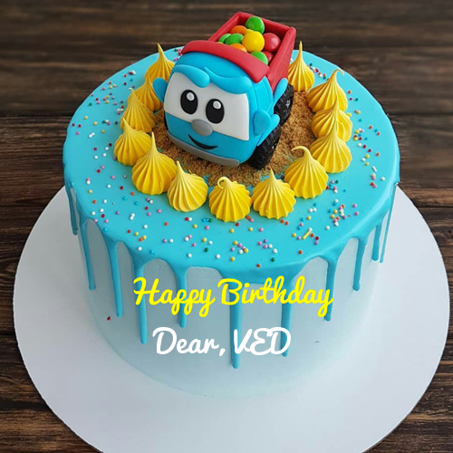 Type Name On Cartoon Birthday Cake With Gems For Kid