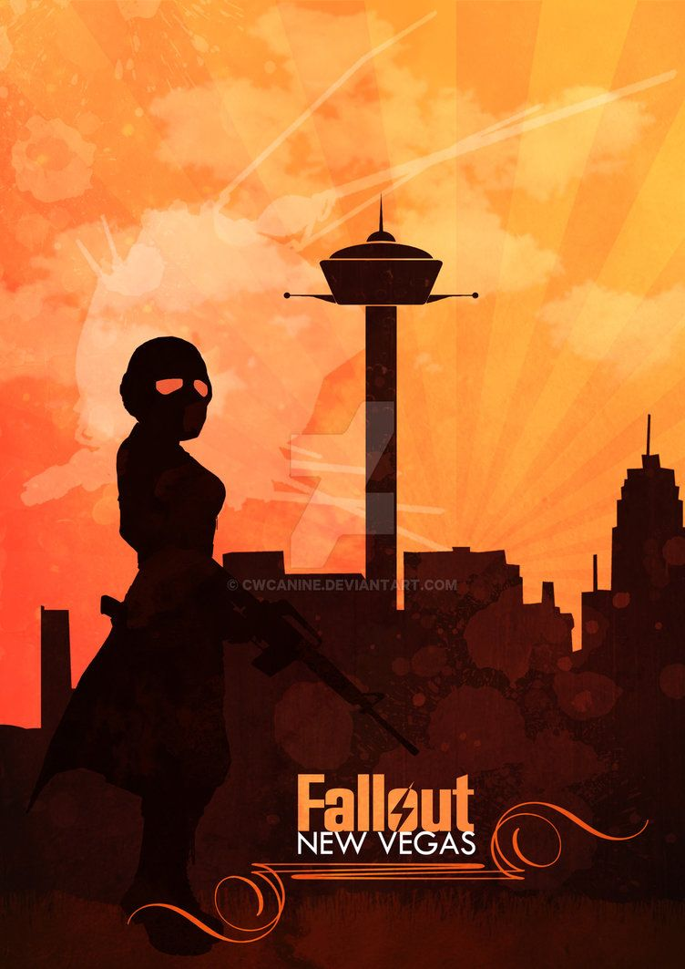 New Vegas Fan Poster By Cwcanine Fallout Posters Fallout Wallpaper Fallout Art