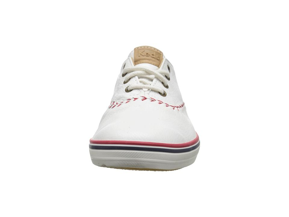 d8d2afe57bf7 Keds Champion Leather Pennant Women s Lace up casual Shoes White Leather