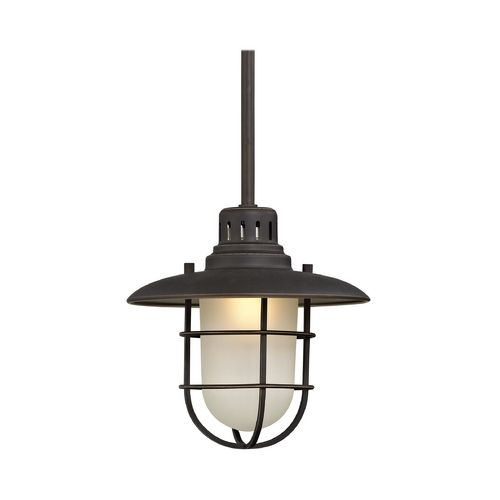 9 inch nautical mini pendant light in bronze at destination lighting