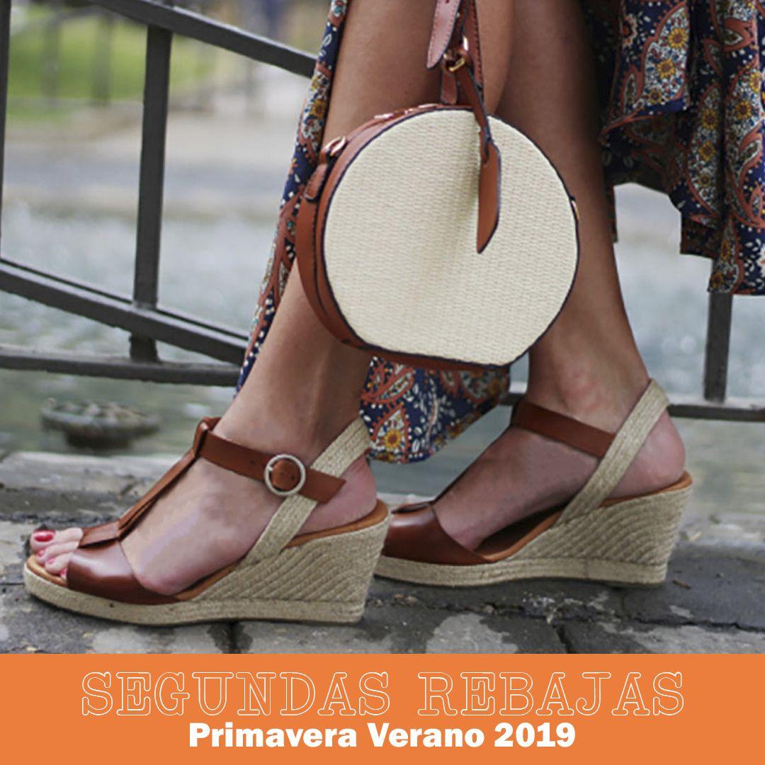 Sandalias cuña para mujer Tambi DRAX en color cuero