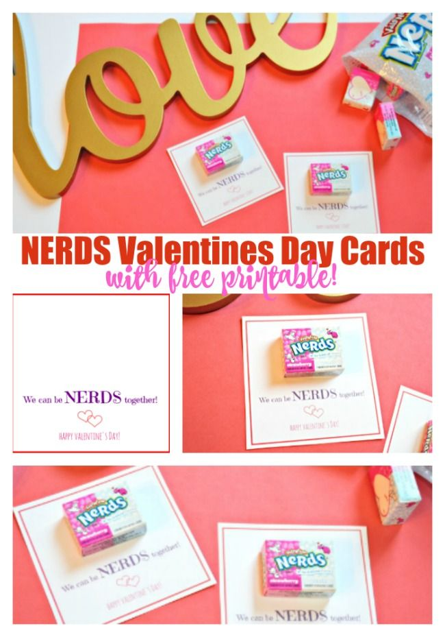 NERDS Valentines Day Cards with Free Printable | Free printable