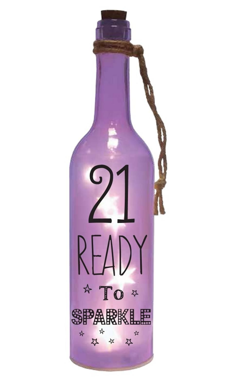 21st Birthday Starlight Bottle Light Up Sentimental Message Bottles