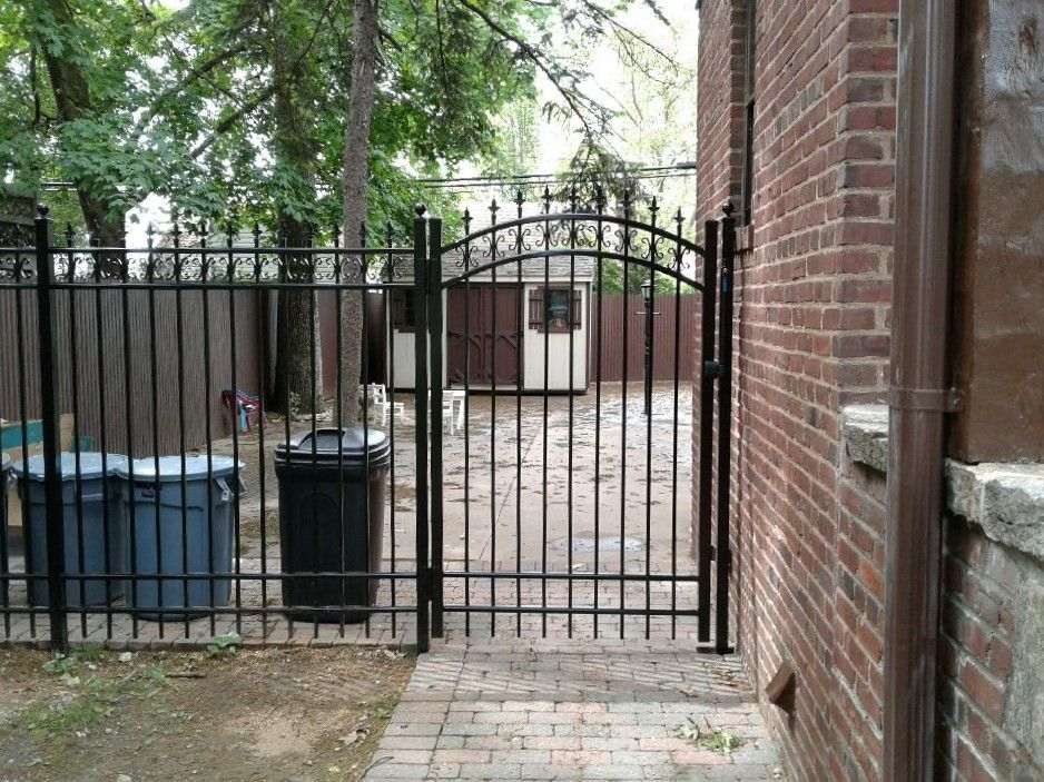 Best Custom Ornamental Aluminum Fence And Arched Walkway Gate 640 x 480