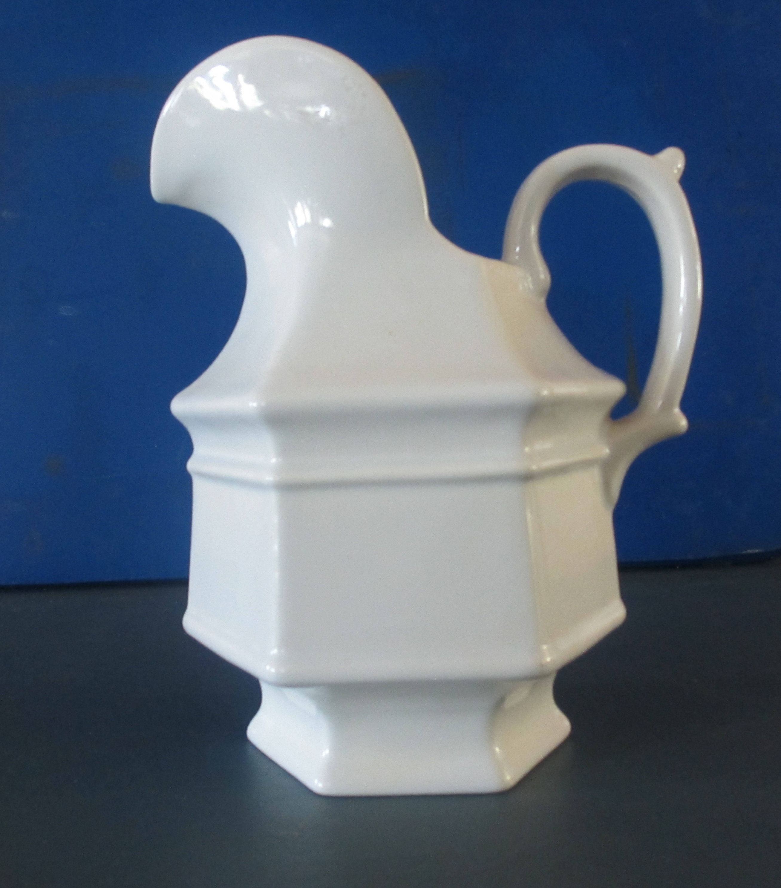 White Pitcher Haeger Usa 8063 Ceramic Large 9 Inches Tall Etsy White Pitcher Ceramics Pitcher