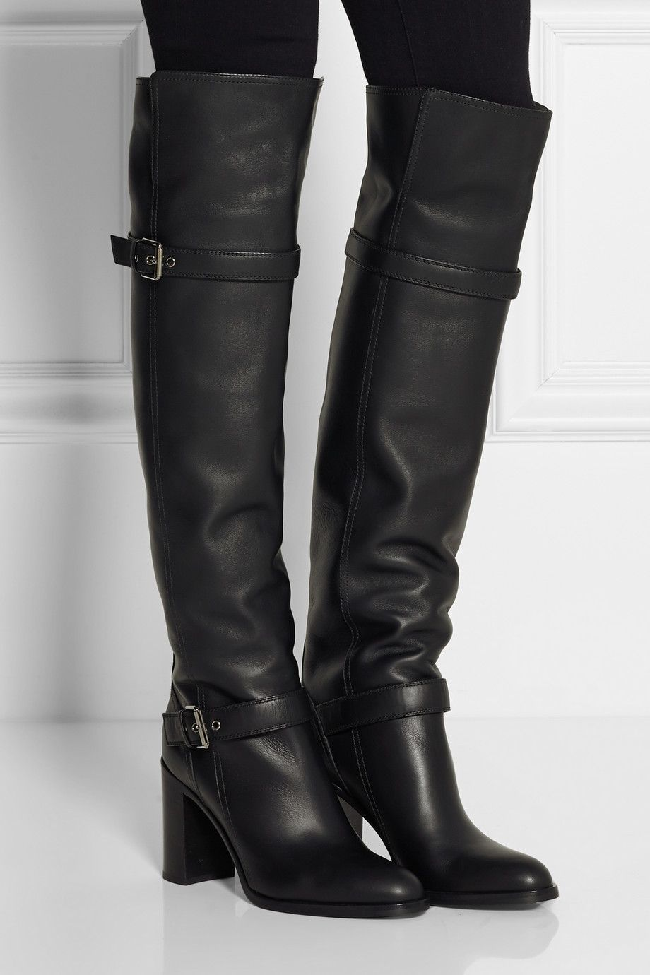 Gianvito Rossi - Leather over-the-knee boots
