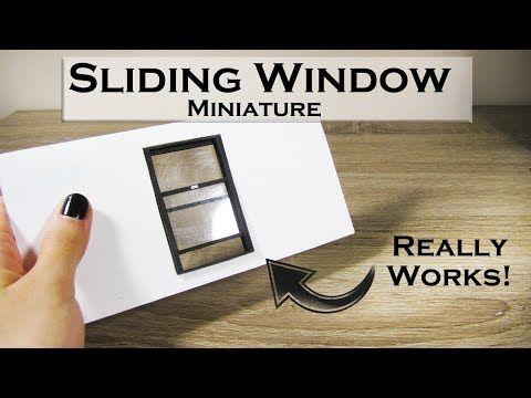 DIY Miniature - Sliding Window (really works!)